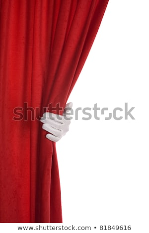 Red Curtains On Stage Over White Stok fotoğraf © alexandre17