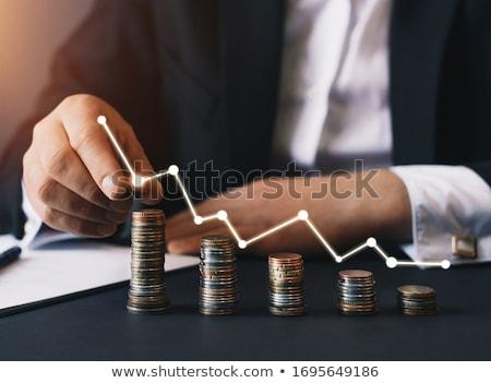 előnyök · kéz · rajz · grafikon · fekete · jelző - stock fotó © flipfine