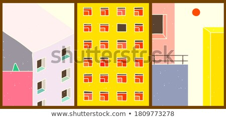 Abstract città business cielo casa costruzione Foto d'archivio © Slobelix