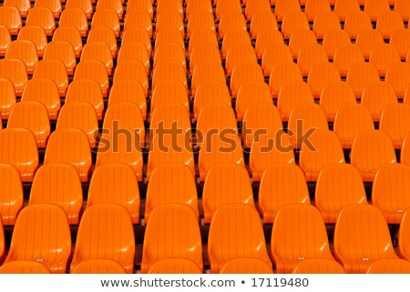 orange · vide · plastique · stade · porte · ouverte · sport - photo stock © michaklootwijk