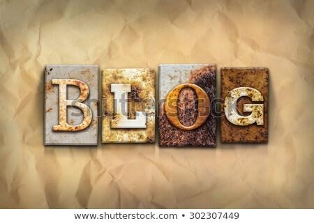 Metal Blog Text stock photo © bosphorus