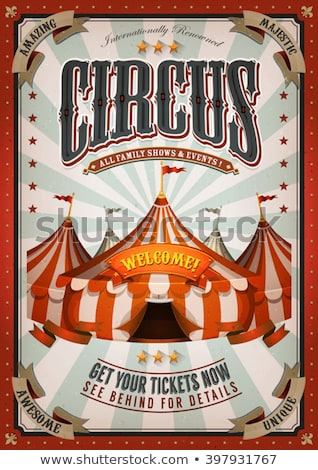 Vintage Circus Tent With Flags And Stars Stock photo © benchart