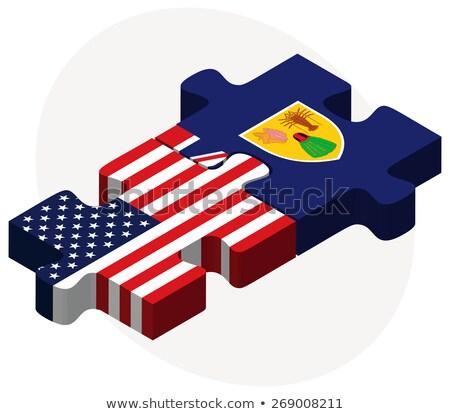 США флагами головоломки вектора изображение Сток-фото © Istanbul2009