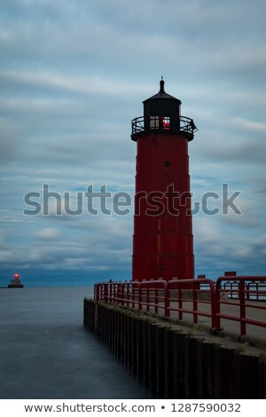Milwaukee Pierhead Lighthouse Lake Michigan Breakwater Light Nau Stock photo © cboswell