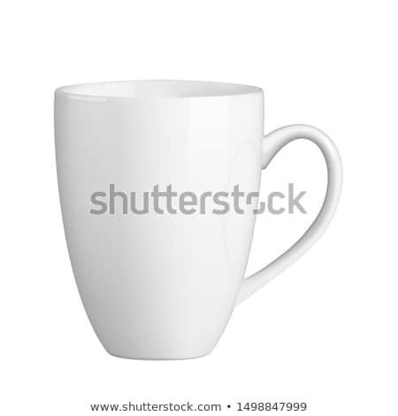 Stock photo: White ceramic mug