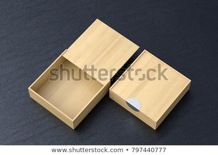 Klein houten vak hart Stockfoto © JamiRae