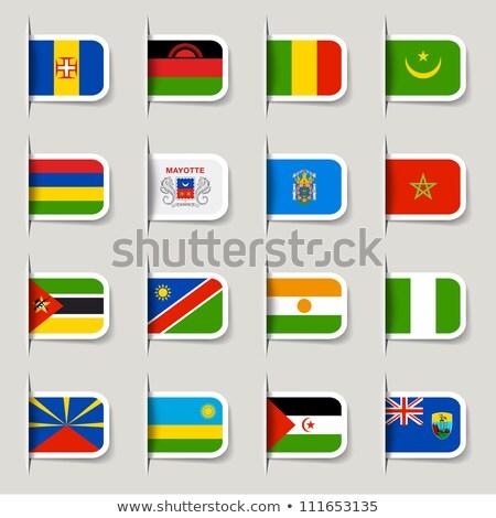 флаг Label Намибия изолированный белый Мир Сток-фото © MikhailMishchenko