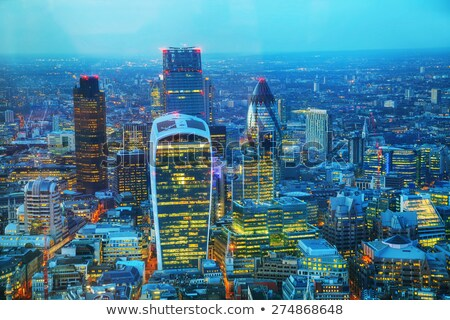 Aerial overview of London city Stock photo © AndreyKr