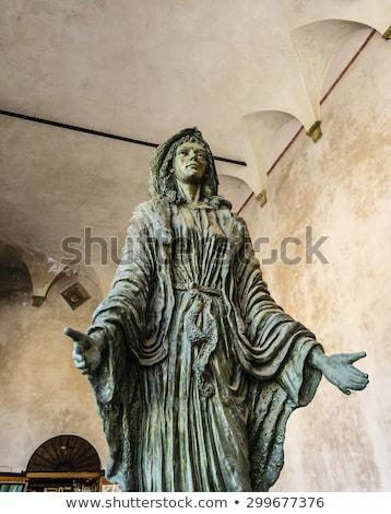 Virgin Mary Sculpture - Capitello della donazione Stock photo © ankarb