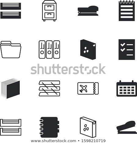 archive · placard · dossiers · isolé · blanche · internet - photo stock © zerbor