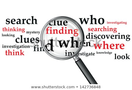 Crime word and magnifying glass Stock photo © fuzzbones0