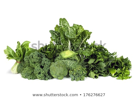 Zöld káposzta brokkoli zeller izolált fehér Stock fotó © tetkoren