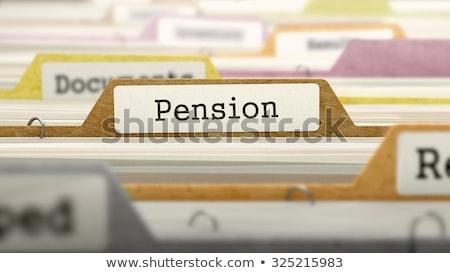 Pension fichier étiquette carte vue Photo stock © tashatuvango