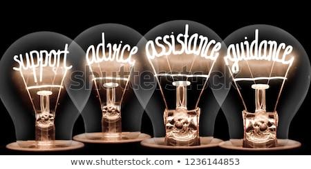 Kreatív útmutatás ötletek irányítás üzlet szimbólum Stock fotó © Lightsource