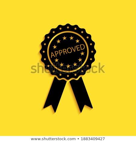 認定された 黄色 ベクトル アイコン ボタン デザイン ストックフォト © rizwanali3d
