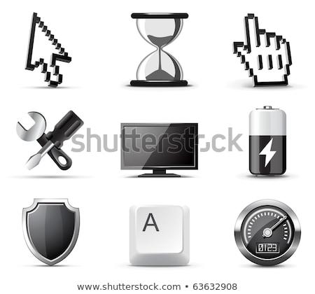 technische · Rood · knop · ontwerp · netwerk - stockfoto © vipervxw