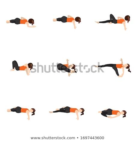 Gerincoszlop jóga póz alapvető háttér jóga tapéta Stock fotó © kentoh