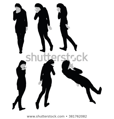 Muslim woman silhouette in sorrow pose Stock photo © Istanbul2009