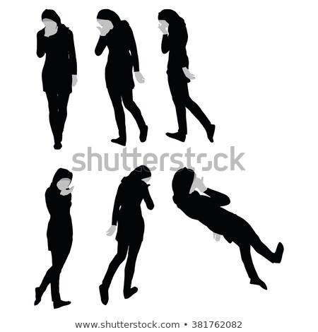 douleur · silhouettes · femmes · désespoir · fille · corps - photo stock © istanbul2009