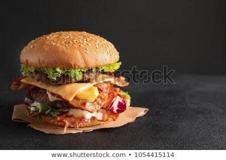 Ricetta raddoppiare cheeseburger colore infografica sfondo Foto d'archivio © alexanderandariadna