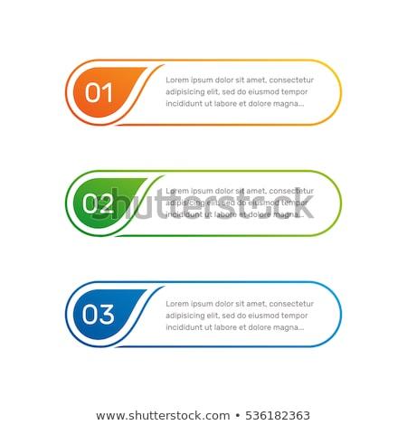 Botões linear gráficos ilustração branco fundo Foto stock © bluering