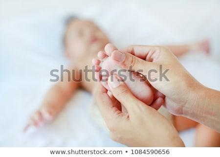 Stock photo: Baby massage
