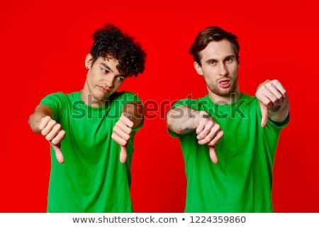 Jovem pessoas felizes em pé falante juntos universidade Foto stock © zurijeta