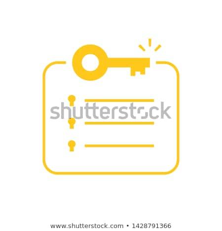 Schlüssel Nachricht Holztisch Business Papier Haus Stock foto © fuzzbones0