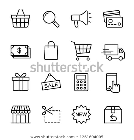 Calculator, shopping basket and bag  vector illustration © Andrei