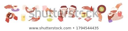 красочный macarons сумку иллюстрация продовольствие фон Сток-фото © bluering
