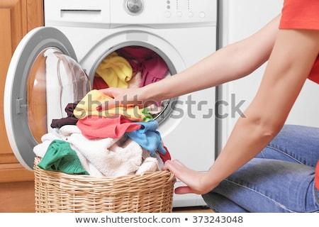 женщину одежды стиральная машина цвета стороны технологий Сток-фото © ssuaphoto