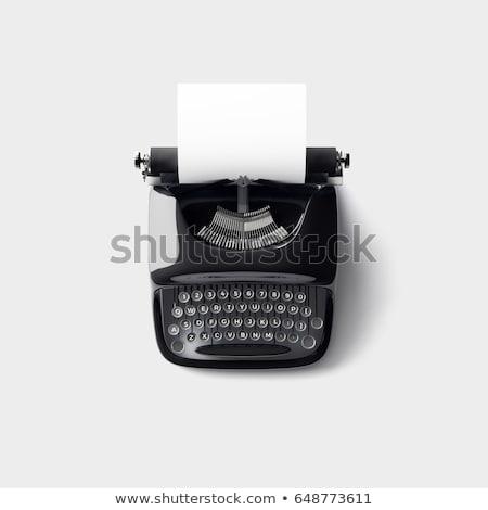 Vintage typewriter on white background stock photo © carenas1