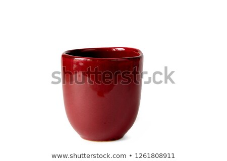 Taza manejar blanco cerámica limpio jarrón Foto stock © Digifoodstock