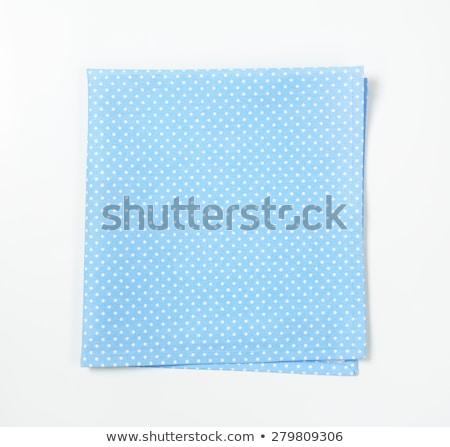 Pointillé turquoise lieu drap bleu textiles Photo stock © Digifoodstock