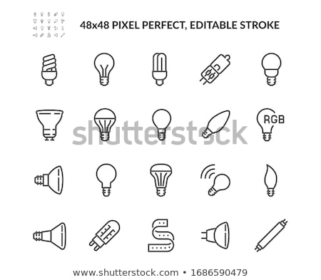Vela chama dentro vidro lâmpada Foto stock © alexeys
