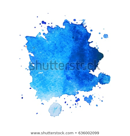 bright blue watercolor stain vector background stock photo © sarts