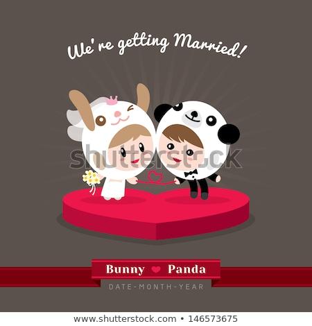 結婚式 パンダ 実例 森林 カップル 結婚 ストックフォト © adrenalina
