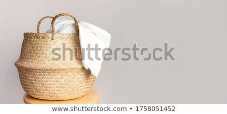 Papírzsebkendő színes anyagok fa textúra közelkép sekély Stock fotó © pashabo