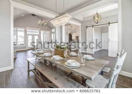 Dining room in luxury home Stock photo © konradbak