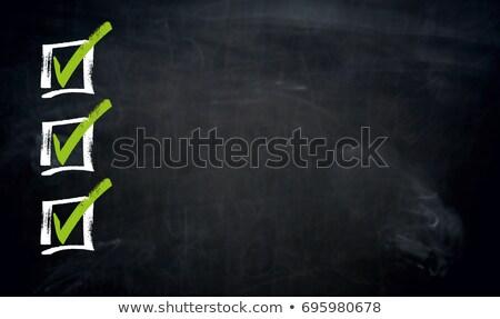 metin · okul · tahta · tebeşir · iş - stok fotoğraf © user_9870494