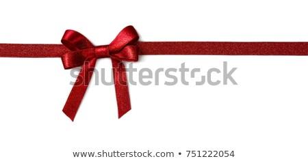 ストックフォト: 赤 · グリッター · 弓 · 高級 · 素材