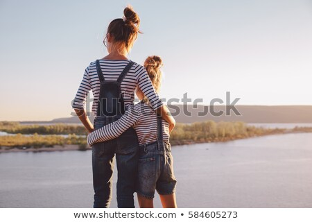 Two sisters hugging Stock photo © IS2