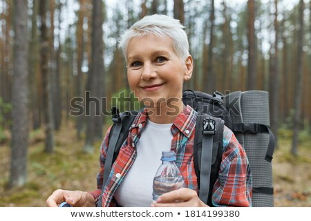Retired Woman in Forest Stock photo © IS2