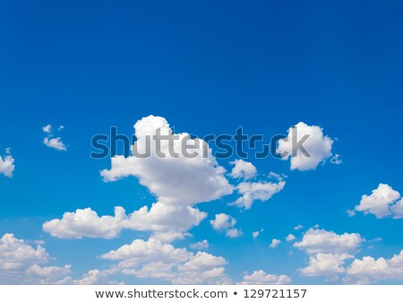 Blue skies with white puffy clouds Stock photo © lovleah