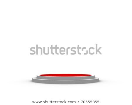 piros · henger · pódium · három · rang · renderelt · kép - stock fotó © oakozhan