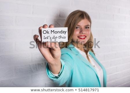 Neden tren genç kadın biçim spor salonu kadın Stok fotoğraf © hsfelix