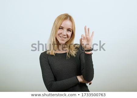 Attrattivo giovani signora tutti bianco Foto d'archivio © NeonShot