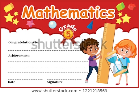 certificate template for math award stock photo © bluering