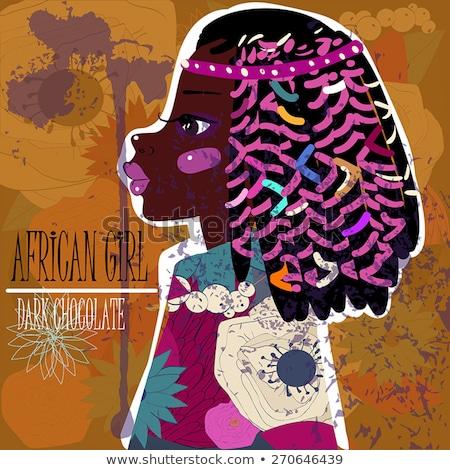 Africano americano menina safári feliz criança estudante Foto stock © bluering