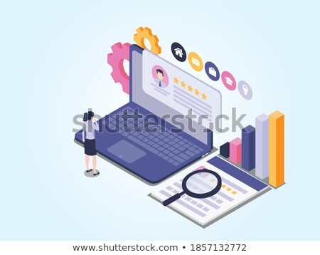 Recruiter - Job Vacancy on Laptop Screen. 3D. Stock photo © tashatuvango